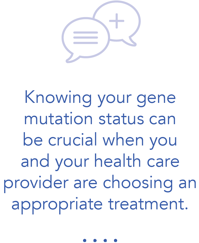 Knowing your gene mutation status is important when choosing a NSCLC treatment
